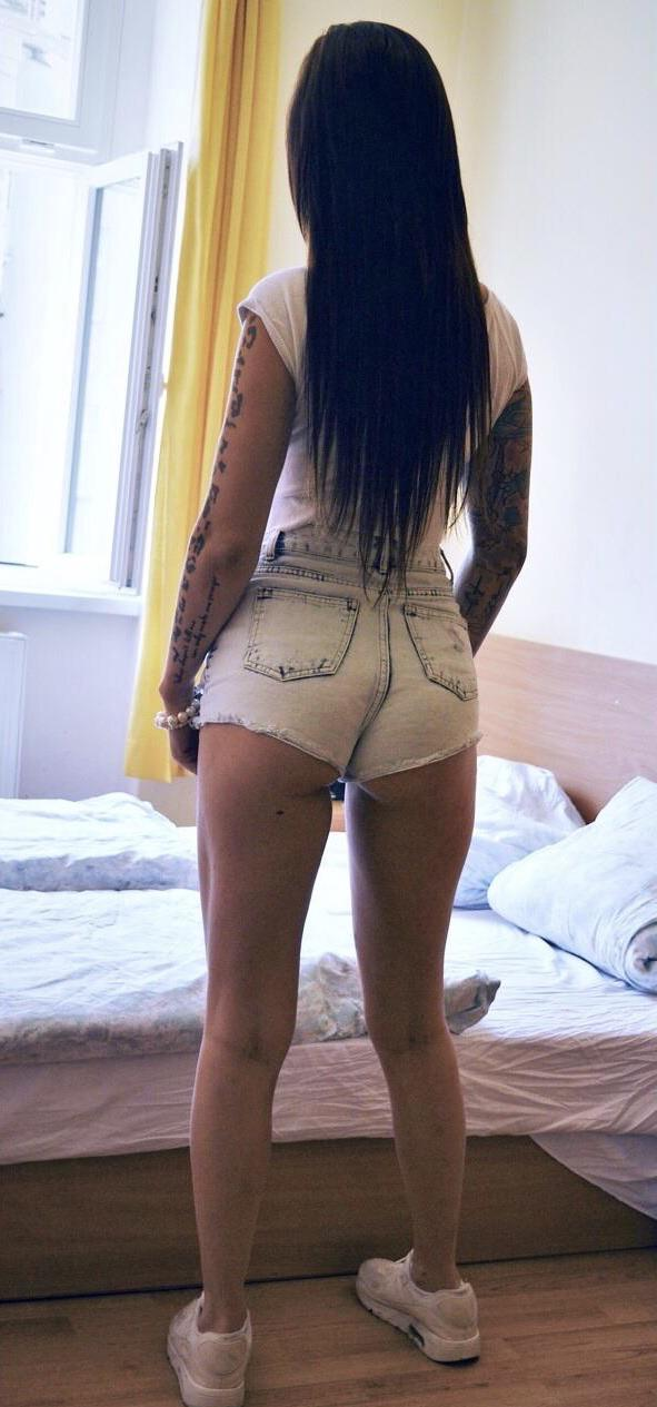 Ass in hotpants