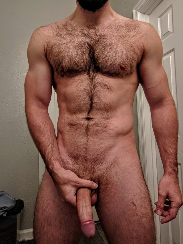 Sexy naked hairy men penis